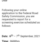 FRSC Fixes Screening Date For 2021 Recruitments Exercise